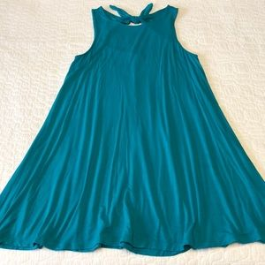 Old Navy | bow tie teal swing dress